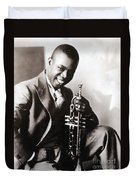 Louis Armstrong, American Jazz Musician Duvet Cover