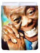 Louis Armstrong  What A Wonderful World  Duvet Cover