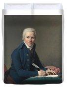 Louis David   Portrait Of Jacobus Blauw Duvet Cover