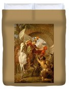 Louis Galloche - A Scene From The Life Of St. Martin Duvet Cover
