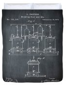 Louis Pasteur Brewing Beer And Ale Patent 1873 Chalk Duvet Cover