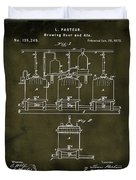 Louis Pasteur Brewing Beer And Ale Patent 1873  Grunge Duvet Cover