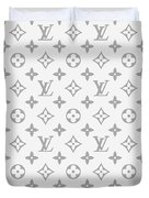 Louis Vuitton Pattern - Lv Pattern 14 - Fashion And Lifestyle Duvet Cover