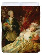 Louis Xv And Madame Dubarry Duvet Cover