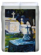 Louisiana Cemetery Duvet Cover
