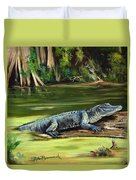 Louisiana Gator Duvet Cover
