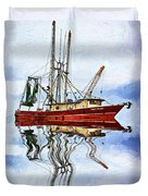 Louisiana Shrimp Boat 4 - Impasto Duvet Cover