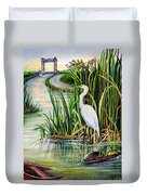 Louisiana Wetlands Duvet Cover by Elaine Hodges