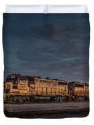 Louisville And Indiana Railroad At Jeffersonville Indiana Duvet Cover