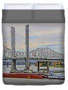 Louisville Bridges Duvet Cover