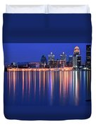 Louisville Lights Up Nicely Duvet Cover