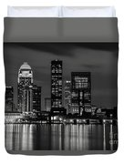 Louisville Skyline At Night 2 Duvet Cover