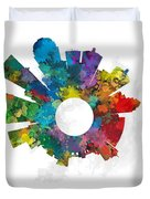 Louisville Small World Cityscape Skyline Abstract Duvet Cover