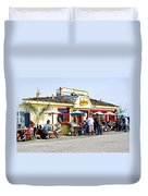 Loulou's On The Commercial Pier In Monterey-california Duvet Cover