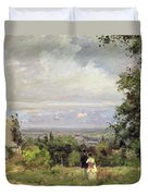 Louveciennes Duvet Cover by Camille Pissarro
