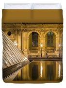 Louvre Courtyard Lamps - Paris Duvet Cover
