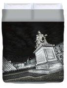 Louvre Museum 7 Art Bw Duvet Cover