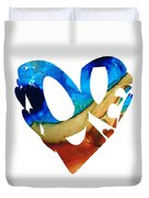 Love 6 - Heart Hearts Valentine's Day Duvet Cover
