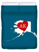 Love Alaska White Duvet Cover