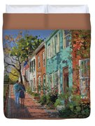 Love Along The C@o Canal Duvet Cover