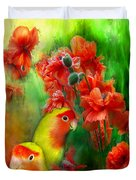 Love Among The Poppies Duvet Cover