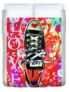 Love And Converse Duvet Cover