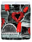 Love And Lobster Duvet Cover