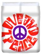 Love And Peace 14 Duvet Cover