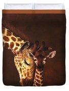 Love And Pride Giraffes Duvet Cover