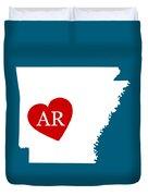 Love Arkansas White Duvet Cover