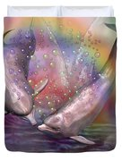 Love Bubbles Duvet Cover by Carol Cavalaris