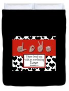 Love - Bw Graphic Duvet Cover