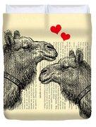 Love Camels Duvet Cover