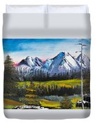 Love Can Move Mountains Duvet Cover