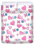 Love Hugs And Kisses Duvet Cover