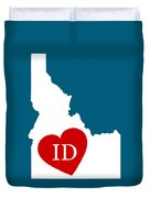 Love Idaho White Duvet Cover