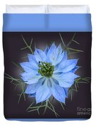 Love In A Mist Black With Light Duvet Cover