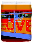 Love  In Lights Duvet Cover
