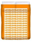 Love In Orange  Duvet Cover