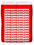 Love In Red Duvet Cover