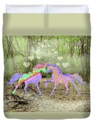 Love In The Magical Forest Duvet Cover