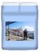 Love In The Port Of Valpaparaiso-chile Duvet Cover