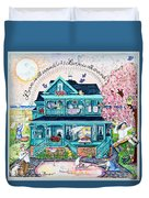 Love Is All Around Duvet Cover