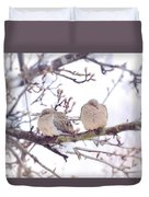 Love Is In The Air - Mourning Dove Couple Duvet Cover