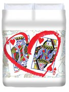 Love Is In The Cards Duvet Cover