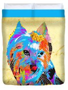 Love Is In The Dog's Eyes  Duvet Cover