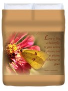 Love Is Like A Butterfly Duvet Cover