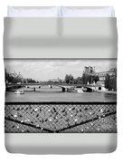 Love Locks Over The Seine Duvet Cover