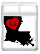 Love Louisiana Black Duvet Cover