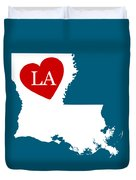 Love Louisiana White Duvet Cover